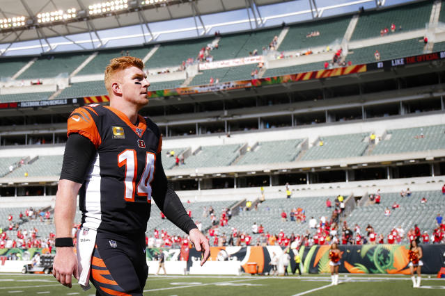 Andy Dalton's run in Cincinnati ended after nine seasons. (AP Photo/Gary Landers)