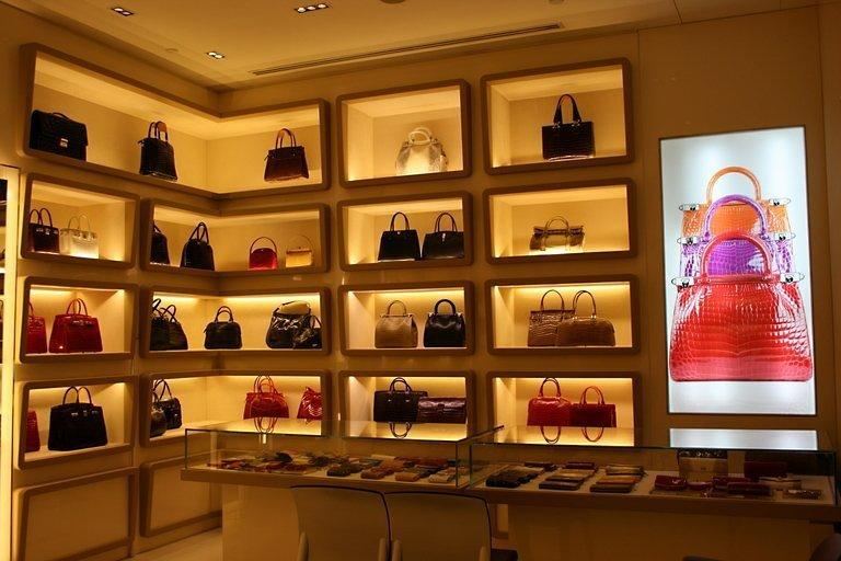 The display of crocodile skin leather handbags at a Kwanpen boutique in Singapore in March 2010. In a luxury industry dominated by famous European brands, a Singapore company is making inroads with an exclusive line of colourful handbags made from crocodile skin