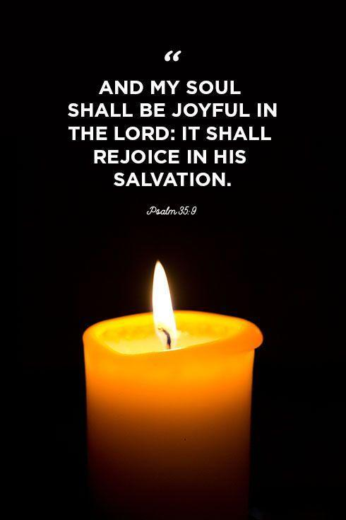 """<p>""""And my soul shall be joyful in the Lord: it shall rejoice in his salvation. </p>"""