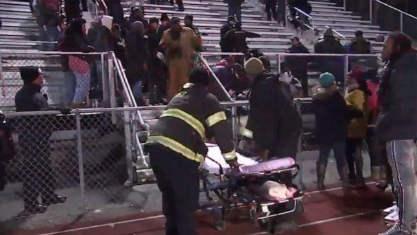 PHOTO: Emergency personnel respond to the scene of a shooting at a high school football game in Pleasantville, New Jersey, Nov. 15, 2019. (ABC News)