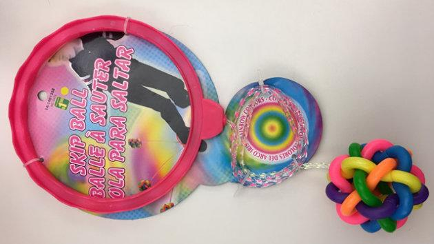 The recalled 'Skip Ball' toy may contain high levels of phthalates.