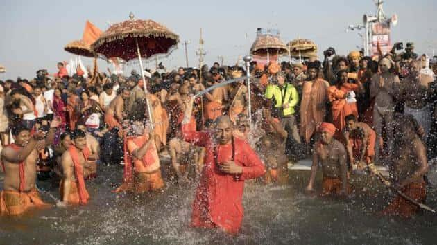 Over 3 crore take holy dip during last 'shahi snan' on Basant Panchmi at Kumbh
