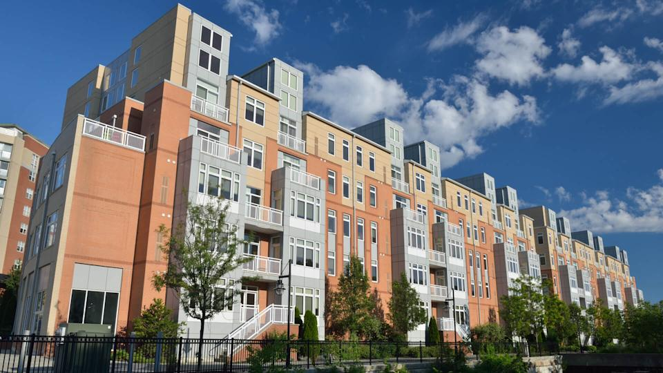 Luxury apartment buildings in downtown Providence, Rhode Island, USA.