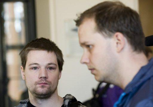 Two co-founders of the file-sharing website The Pirate Bay, Fredrik Neij (L) and Peter Sunde are shown in 2010 at the Swedish Appeal Court in Stockholm. Neij and Sunde, as well as key financier Carl Lundstroem all had their 12-month sentences reduced to between four and 10 months on appeal in late 2010