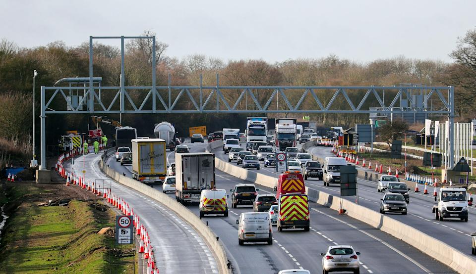 <p>Traffic on a motorway</p> (PA Archive)