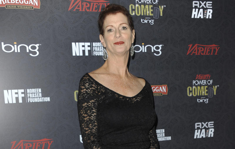 FILE - In this Nov. 17, 2012 file photo, Noreen Fraser arrives at Variety Power of Comedy at Avalon Hollywood in Los Angeles. The family of Noreen Fraser, a TV producer and co-founder of Stand Up to Cancer, says she has died at age 63. Fraser's family said she died Monday< March 27, 2017, at her Los Angeles home of metastatic breast cancer. (Photo by Richard Shotwell/Invision/AP, File)