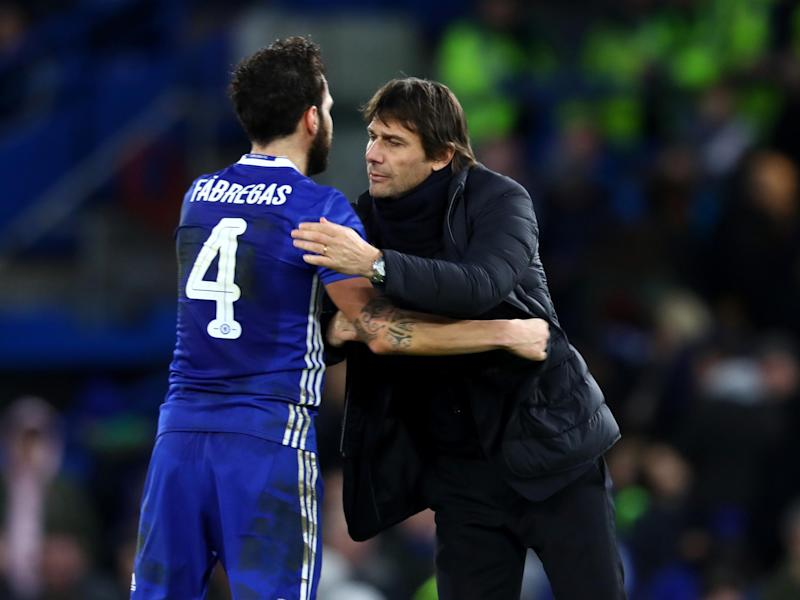 Conte has been particularly pleased with Fabregas this season: Getty
