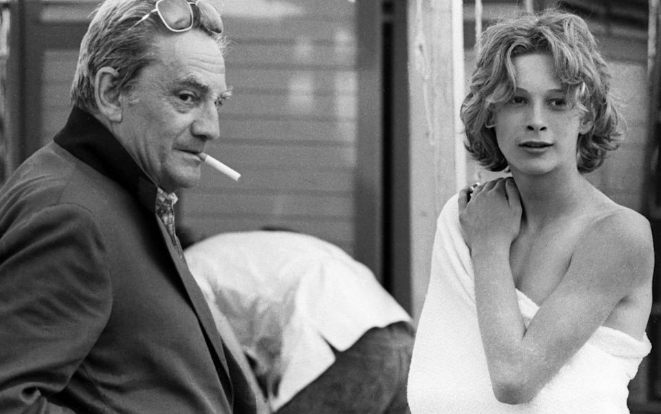 """Director Luchino Visconti on the set of Death in Venice with his """"perfect"""" boy"""