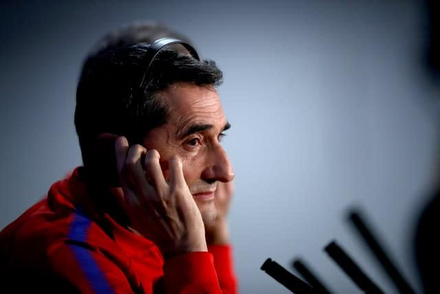Ernesto Valverde thinks the league standings will count for little (John Walton/PA)