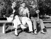 <p>Actors Clark Gable, Joe Schenck, and Douglas Fairbanks on vacation at the Catalina Island golf course in California, circa 1934.</p>