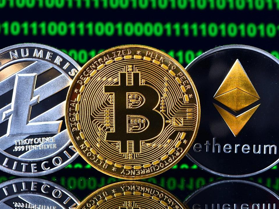 The combined value of all crytpocurrencies is now worth more than the market cap of Apple (Getty Images)