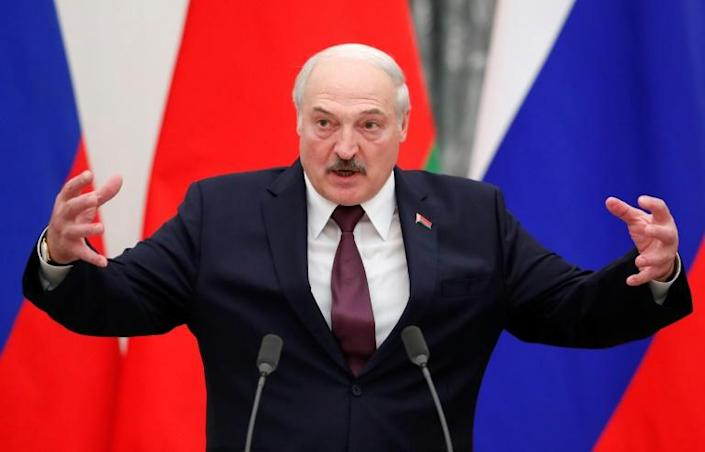 Belarusian President Alexander Lukashenko has sought support from Russia after unprecedented protests against him last year (AFP/SHAMIL ZHUMATOV)
