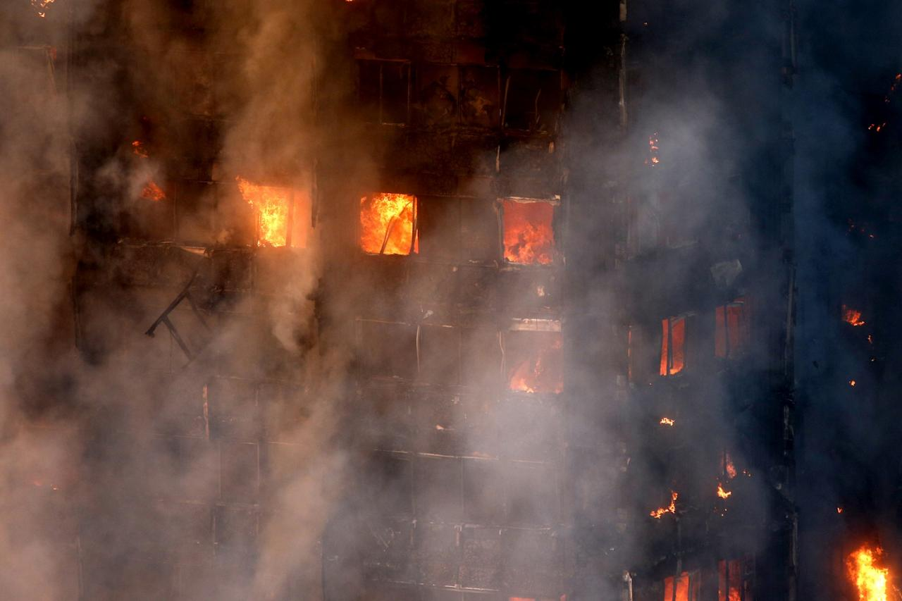 <p>The fire was quickly declared a major incident (SWNS) </p>