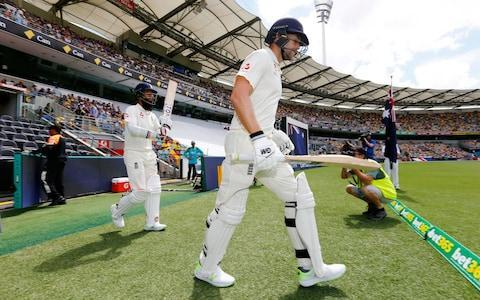 <span>The England fifth-wicket pair stroll out to resume their partnership</span> <span>Credit: Jason O'Brien/PA </span>