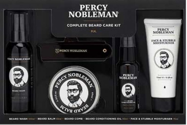 PHOTO: Zalora. Percy Nobleman Complete Beard Care Kit