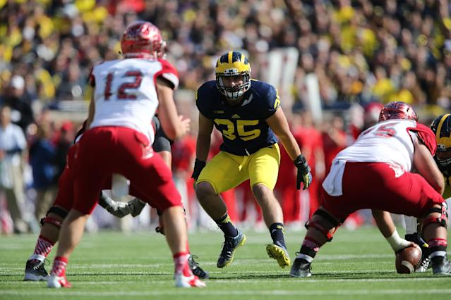 Joe Bolden racked up 270 total tackles during his career at Michigan. (Photo by Leon Halip/Getty Images)