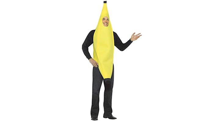 This goofy banana suit is easy to wear and great for a getting laughs.