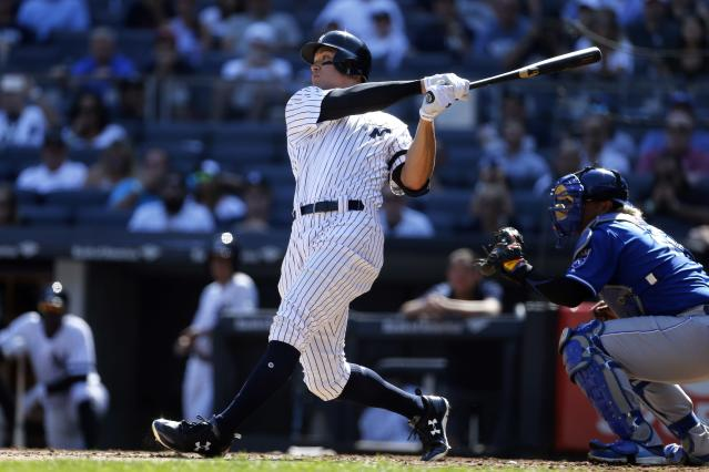Aaron Judge has a chance to win AL MVP and Rookie of the Year in the same season. (Getty Images)