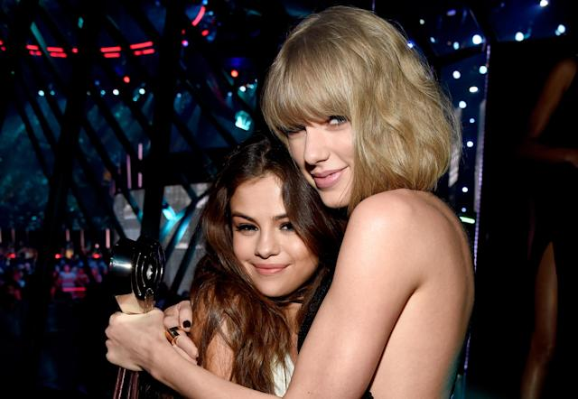 Taylor Swift celebrated pal Selena Gomez's 26th birthday Sunday. (Photo: Kevin Mazur/Getty Images for iHeartRadio/Turner)