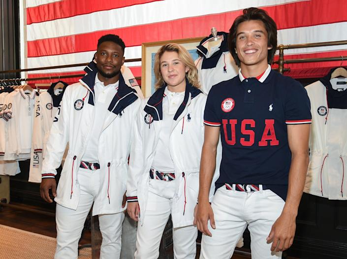 <p>Team USA's outfits for the 2020 Olympics closing ceremony</p> (AP)