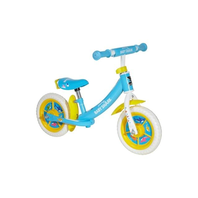"<p>Balance bike, doo, doo, doo, doo, doo, doo! Your toddler will love riding around on this <a href=""https://www.popsugar.com/buy/Dynacraft-Baby-Shark-Balance-Bike-585515?p_name=Dynacraft%20Baby%20Shark%20Balance%20Bike&retailer=kohls.com&pid=585515&price=55&evar1=moms%3Aus&evar9=47481605&evar98=https%3A%2F%2Fwww.popsugar.com%2Fphoto-gallery%2F47481605%2Fimage%2F47581402%2FDynacraft-Baby-Shark-Balance-Bike&list1=bikes%2Ckid%20shopping&prop13=api&pdata=1"" rel=""nofollow"" data-shoppable-link=""1"" target=""_blank"" class=""ga-track"" data-ga-category=""Related"" data-ga-label=""https://www.kohls.com/product/prd-4152728/dynacraft-baby-shark-balance-bike-for-toddlers.jsp"" data-ga-action=""In-Line Links"">Dynacraft Baby Shark Balance Bike</a> ($55).</p>"
