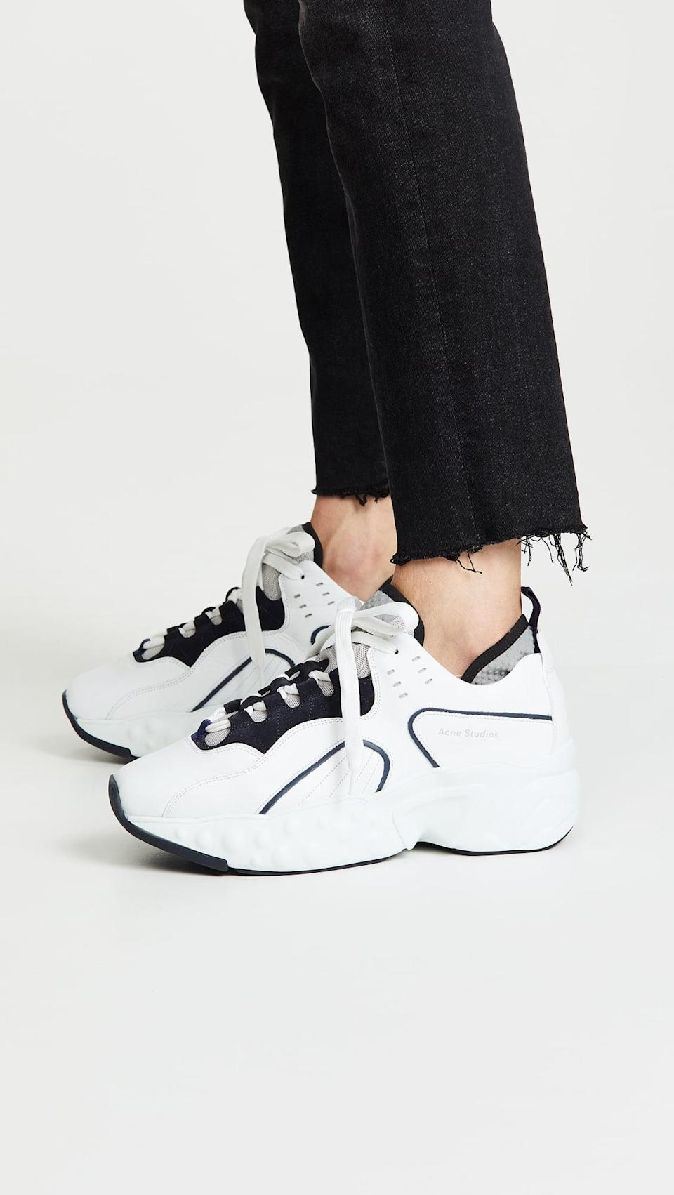 <p>If you're in the market for a chunky white sneaker, the <span>Acne Studios Manhattan</span> ($470) should prove valuable later on. In fact, Vestiaire Collective reports the shoe has highest resell value for 2021.</p>