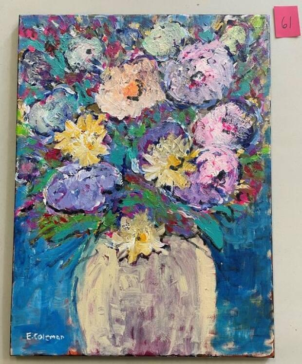 This floral oil painting by Ed Coleman is item #61.