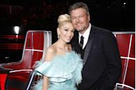 "<p>When <em>The Voice</em> judges began dating in 2015, people had mixed opinions. Some were happy that the couple, both previously divorced, found love, while others were bothered by the attention their relationship was getting on the show—some fans even claiming the competition show had become the ""Blake and Gwen show"" <a href=""https://www.facebook.com/NBCTheVoice/photos/a.192940177410006.36517.167555906615100/1345288428841836/?type=3&comment_id=1346004308770248&comment_tracking=%7B%22tn%22%3A%22R9%22%7D"" rel=""nofollow noopener"" target=""_blank"" data-ylk=""slk:on The Voice's Facebook page"" class=""link rapid-noclick-resp"">on <em>The Voice's</em> Facebook page</a>.</p>"