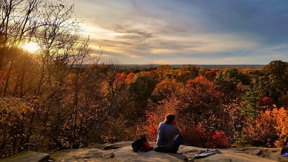 """<div class=""""inline-image__caption""""><p>""""Cuyahoga Valley National Park from the top of The Ledges in the Fall.""""</p></div> <div class=""""inline-image__credit"""">Photo courtesy, Brandon Withrow</div>"""