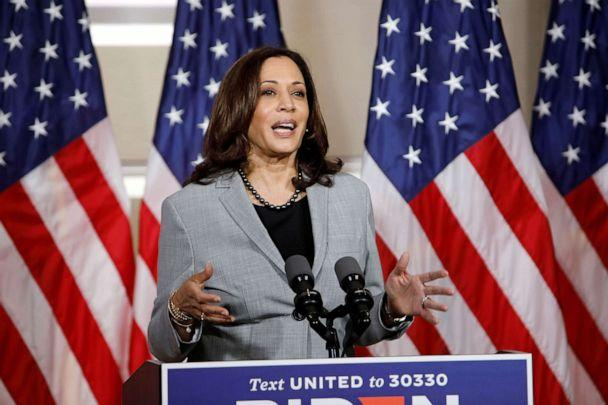PHOTO: Sen. Kamala Harris speaks at a campaign event in Raleigh, N.C., Sept. 28, 2020. (Jonathan Drake/Reuters,FILE)