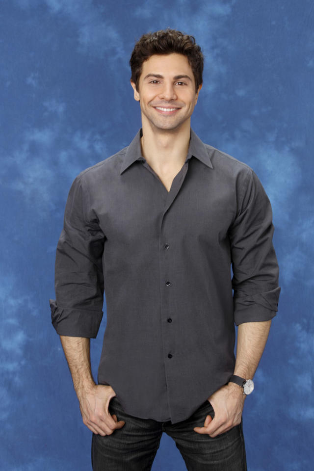 "David, 33, a singer/songwriter from New York, NY is featured on the eighth edition of ""<a href=""http://tv.yahoo.com/bachelorette/show/34988"">The Bachelorette</a>."""