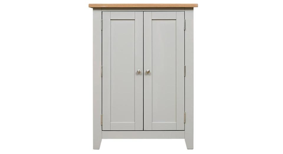 Chester Dove Grey Large Shoe Cupboard