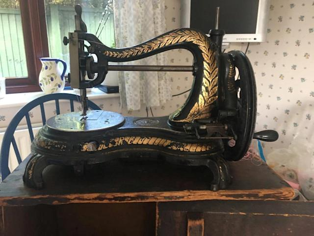 The 75-year-old sewing machine is still going strong. (SWNS)