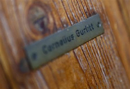 File photo of the name plate on the house of art collector Cornelius Gurlitt in Salzburg November 6, 2013. REUTERS/Dominic Ebenbichler/Files