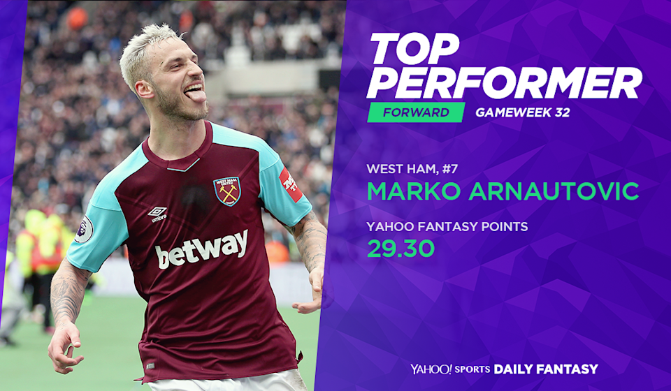 <p>Makro Arnautovic punished former boss Mark Hughes with a brace and lead the shot charts in Gameweek 32 with six shots, four of which found the target. </p>