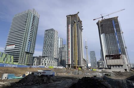 File photo of condominiums being constructed in Toronto