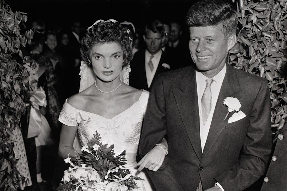 <p>After the ceremony, the 800 guests made their way to the reception at Hammersmith Farm, a 300-acre farm owned by the family of Jackie's stepfather, Hugh Auchincloss.</p>