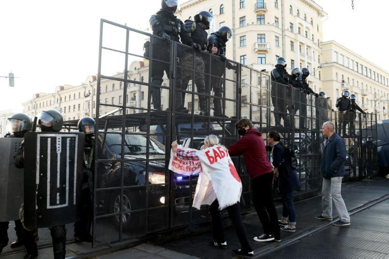 Protesters have defied security forces in rallies against the Belarus leader