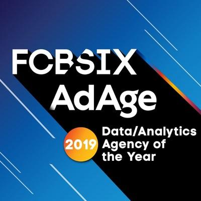 FCB/SIX, the Toronto-based unit of Interpublic Group's FCB, announced it was named Data/Analytics Agency of the Year by Advertising Age earlier this week. Selected from more than 200 agencies, this coveted annual award honors the top, forward-thinking and creative innovators in the advertising industry.