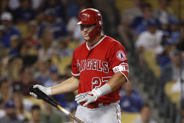 Mike Trout has only played in three playoff games in eight seasons. (AP)