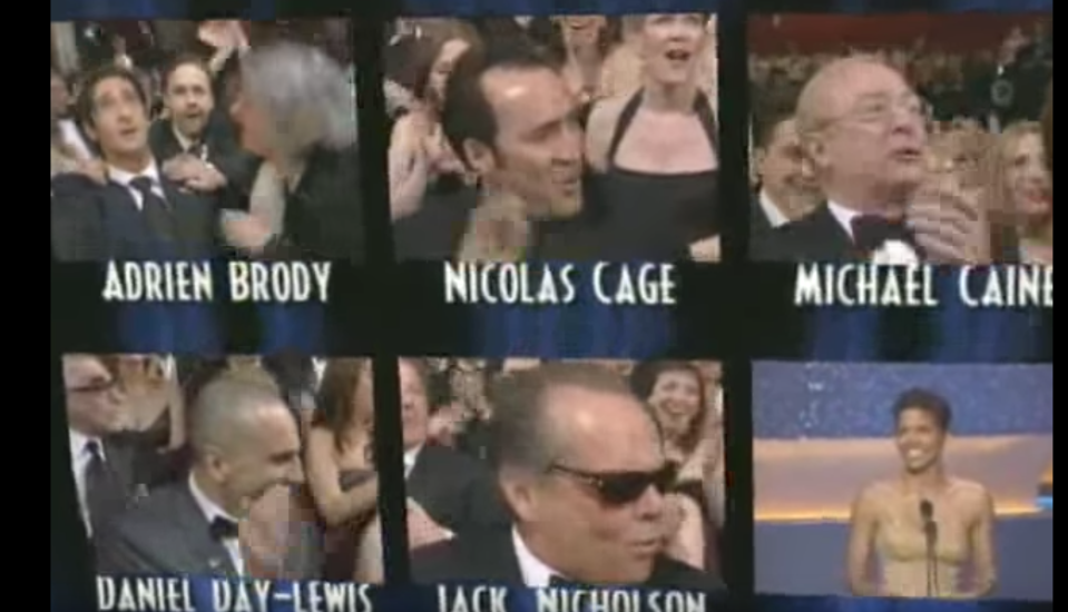 Cage and Nicholson were both in shock (Oscars)