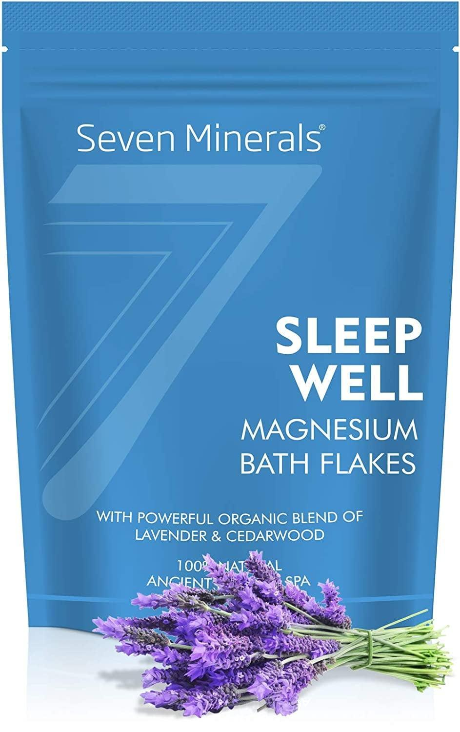 <p>The calming effects of magnesium are only magnified by the lavender in these <span>Seven Minerals Sleep Well Magnesium Bath Flakes</span> ($20). Soak in them for 20 to 30 minutes for a more restful night.</p>
