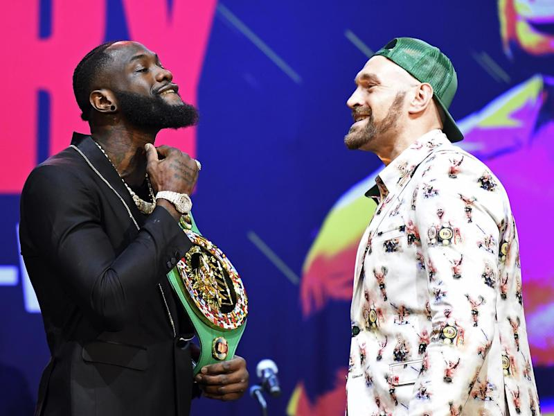 Deontay Wilder and Tyson Fury fought to a controversial draw in December 2018: Getty
