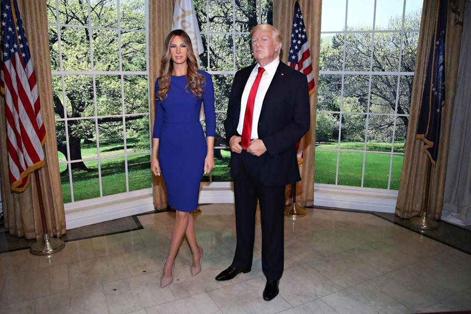 Melania's wax figure was unveiled next to her husband's at Madame Tussauds in New York City. (Photo: Getty Images)