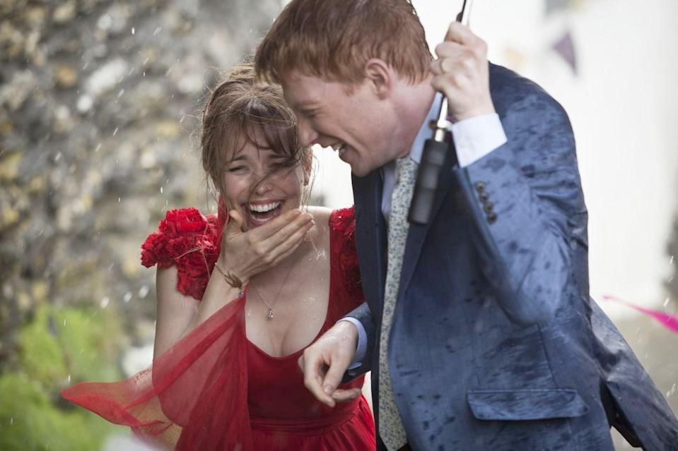 """<p>From the makers of <em>Love, Actually</em>, <em>About Time</em> follows Tim (Domhnall Gleeson), a 21-year-old Brit who discovers he can travel in time (in his own timeline) and change his future. His powers help (and hinder) him to find the love of his life, Mary (Rachel McAdams), as well as spend a little more time with those who matter to him. What could stand on its own as a gorgeous love story that will make you want to get <a href=""""https://www.glamour.com/story/why-do-women-in-tv-flashbacks-always-have-bangs?mbid=synd_yahoo_rss"""" rel=""""nofollow noopener"""" target=""""_blank"""" data-ylk=""""slk:bangs"""" class=""""link rapid-noclick-resp"""">bangs</a> and move to London also manages to also dive into Tim's relationships with his family in ways that will squeeze your heart until you're balling your eyes out. (Special bonus: <em>About Time</em> features a baby Margot Robbie before she made it big.) </p> <p><a href=""""https://www.netflix.com/title/70261674"""" rel=""""nofollow noopener"""" target=""""_blank"""" data-ylk=""""slk:Watch now on Netflix"""" class=""""link rapid-noclick-resp""""><em>Watch now on Netflix</em></a><em>.</em> </p>"""