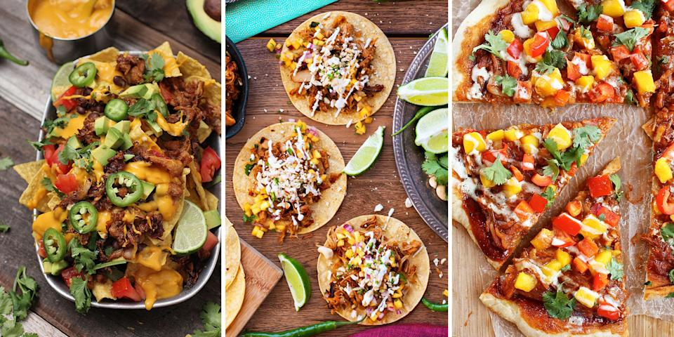 """<p>These indulgent dishes might look like meat and taste like meat, but don't be fooled! Jackfruit, a <a href=""""http://www.drozthegoodlife.com/healthy-food-nutrition/news/a1940/jackfruit-meat-alternative/"""" rel=""""nofollow noopener"""" target=""""_blank"""" data-ylk=""""slk:tropical fruit native to Asia"""" class=""""link rapid-noclick-resp"""">tropical fruit native to Asia</a> that resembles pulled pork, is becoming one of the most popular <a href=""""http://www.drozthegoodlife.com/healthy-food-nutrition/healthy-recipe-ideas/tips/g454/easy-tofu-recipes/"""" rel=""""nofollow noopener"""" target=""""_blank"""" data-ylk=""""slk:meat alternatives"""" class=""""link rapid-noclick-resp"""">meat alternatives</a> for vegans, vegetarians, and anyone who's looking to lead a healthier lifestyle. Try it out for yourself using one of these delicious recipes.</p>"""