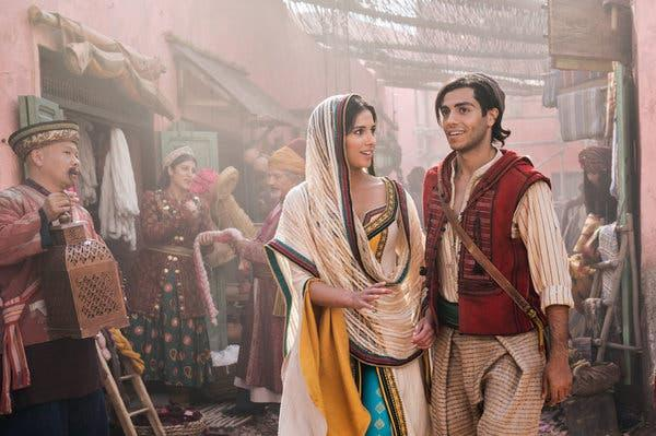 Naomi Scott and Mena Massoud in Aladdin (Credit: Disney)