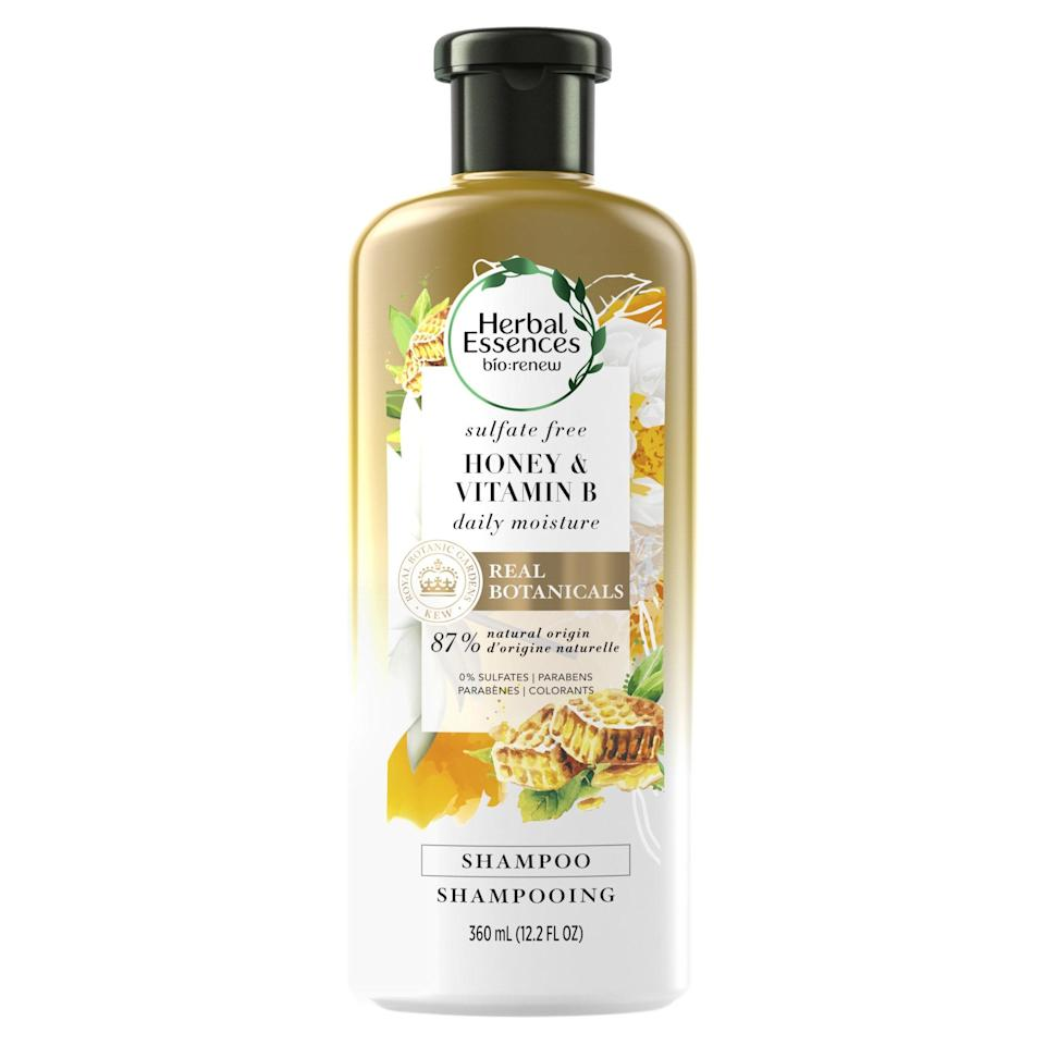 """Not only is Herbal Essences' Honey & Vitamin B Sulfate-Free Shampoo <a href=""""https://www.allure.com/story/herbal-essences-shampoo-environmental-working-group-ewg-verified?mbid=synd_yahoo_rss"""" rel=""""nofollow noopener"""" target=""""_blank"""" data-ylk=""""slk:EWG Verified"""" class=""""link rapid-noclick-resp"""">EWG Verified</a> — which means its ingredients meet rigorous standards — it's <a href=""""https://www.allure.com/gallery/best-shampoo-conditioner-for-color-treated-hair?mbid=synd_yahoo_rss"""" rel=""""nofollow noopener"""" target=""""_blank"""" data-ylk=""""slk:color-safe"""" class=""""link rapid-noclick-resp"""">color-safe</a>, pH-balanced, and formulated to moisturize and soften hair. Aside from nourishing ingredients like aloe leaf juice, honey extract, and panthenol (a form of vitamin B5), all of the pure plant extracts in each Bio:Renew bottle, including this shampoo, has been <a href=""""https://herbalessences.com/en-us/kew-botanical-shampoo"""" rel=""""nofollow noopener"""" target=""""_blank"""" data-ylk=""""slk:authenticated and endorsed by the Royal Botanic Gardens, Kew"""" class=""""link rapid-noclick-resp"""">authenticated and endorsed by the Royal Botanic Gardens, Kew</a>. The delicious honey, jasmine, and vanilla scents don't hurt either. $19, Amazon. <a href=""""https://www.amazon.com/Herbal-Essences-Sulfate-Conditioner-BioRenew/dp/B07N9NK2WG"""" rel=""""nofollow noopener"""" target=""""_blank"""" data-ylk=""""slk:Get it now!"""" class=""""link rapid-noclick-resp"""">Get it now!</a>"""
