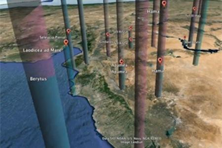 Using Google Earth software, researchers can track changes in Antioch as the ancient city was absorbed by the Roman Empire.