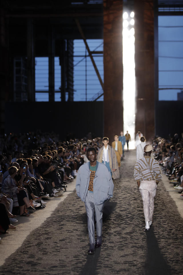 a91f54df Models wear creations as part of the Ermenegildo Zegna men's Spring-Summer  2020 collection,